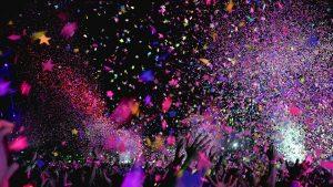 vrijgezellenfeest locaties met confetti